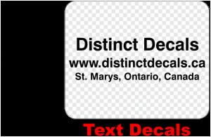 Order Text Decals